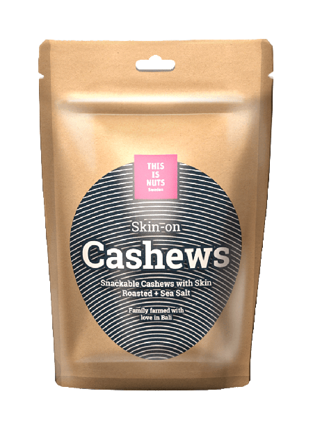 Skin-on Cashew Roasted + Sea salt kort bäst före