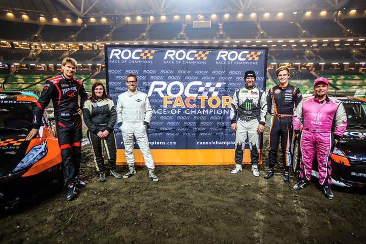 Alx Danielsson and the other drivers at Monster Jam Stockholm 2016