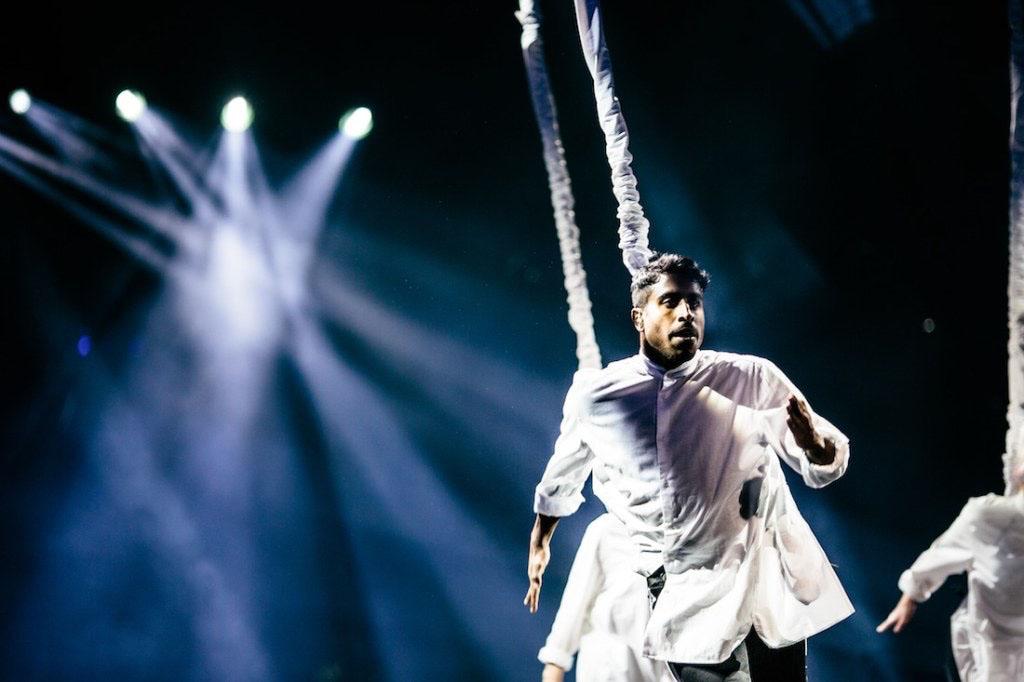Kenny Svensson performs at Melodifestivalen 2017