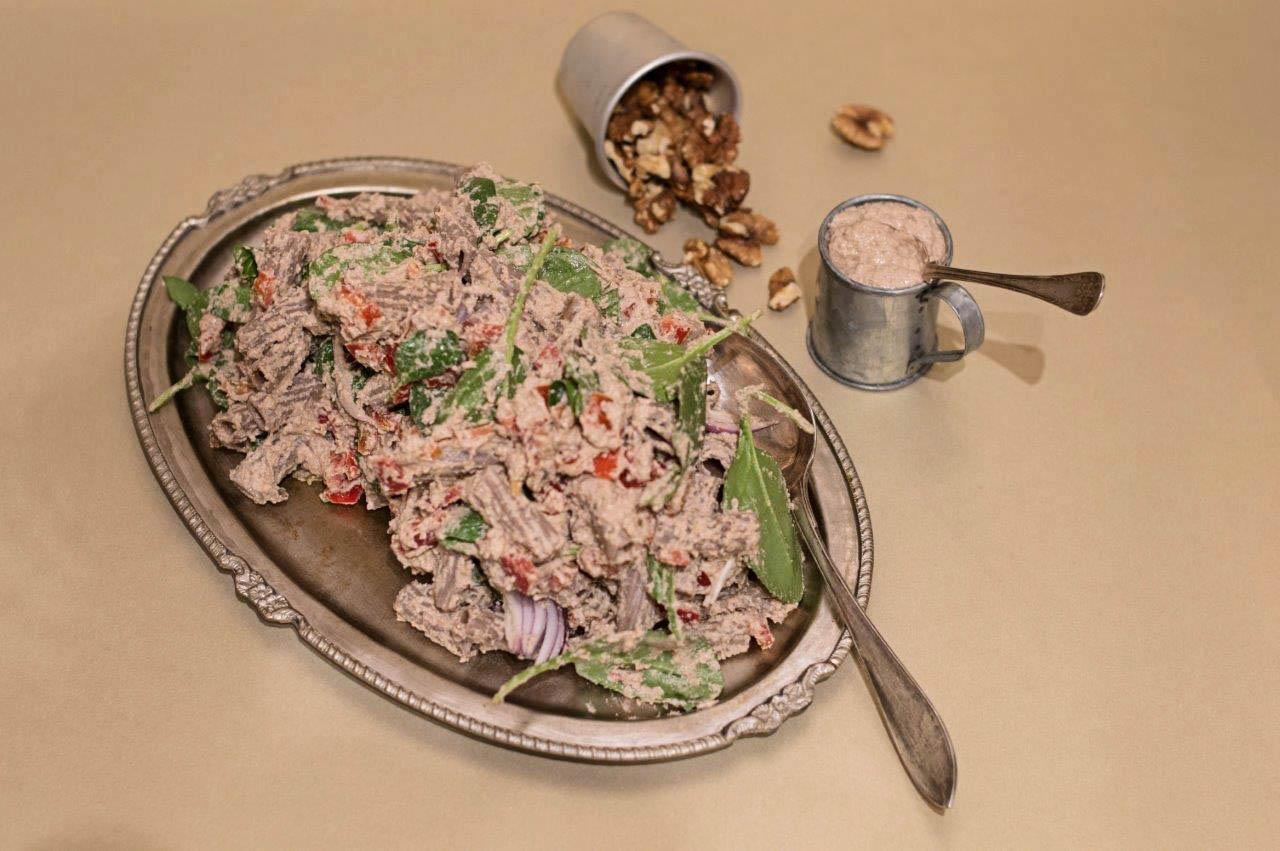Creamy Walnut and Buckwheat Pasta Salad